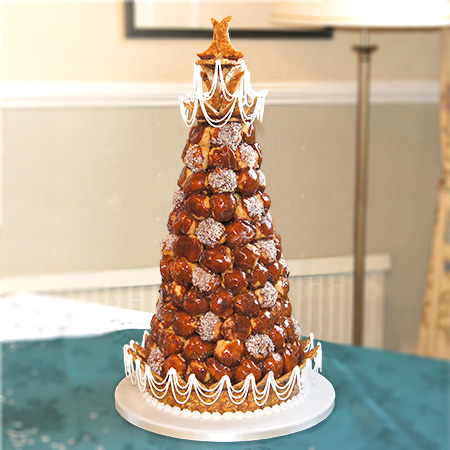 120 piece traditional Croquembouche