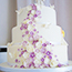 Purple and white handcrafted sugar Flowers