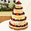 Naked Wedding Cake in a Marquee in Newbury