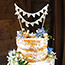 Just Married bunting cake topper