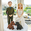 Hand Crafted Bride and Groom Topper