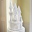 Castle topper decorated with sparkles and diamante ribbon