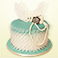 Teal Angel wings and Shabby Chic Heart