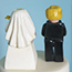 back detail of Lego Bride and Groom Cake Topper
