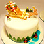 Father Christmas and Sleigh Christmas Cake