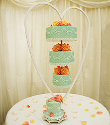 Chandelier, Upside Down Hanging Wedding Cakes